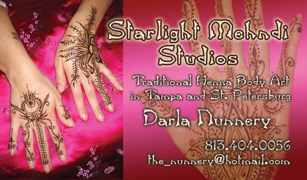 Starlight Mehndi Studios Henna Body Art In North Florida